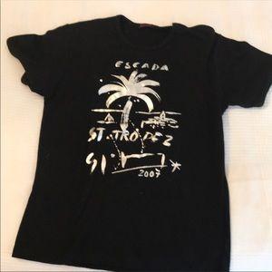 Escada black t shirt